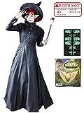 ハロウィン amieamie コスプレ 魔女 5点 セット 巫女 黒 ワンピース 仮装 公演 女性 レディース 服 衣装 大人 長袖 パーティー コスチューム 舞台