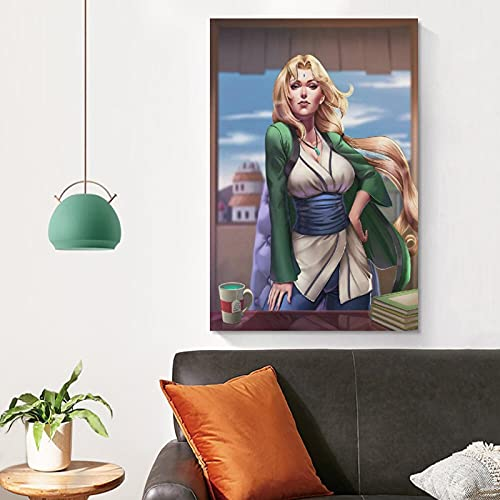 Tsunade Lingerie Pervert Sexy Poster Adult Anime Sexy Woman Body Art Poster Nude Girl Sexy Painting Adult Erotic Bathroom Wall Art Bedroom Decor Canvas Print 20×30inch(50×75cm)/Unframed