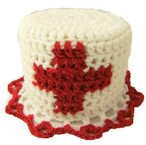 Storchenlädchen Klohut, rotes Kreuz, Klohüte Klopapierhut Klopapierhüte Toilettenpapierhut Toilettenpapierhüte