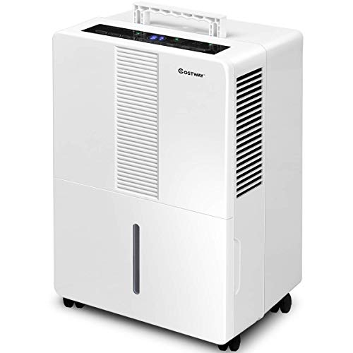 COSTWAY Portable Dehumidifier 1500 Sq. Ft w/Wheels and Drain Hose Outlet to Remove Mold, Odor and Allergens for Basements Extra Large Rooms