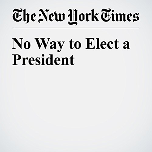 No Way to Elect a President cover art