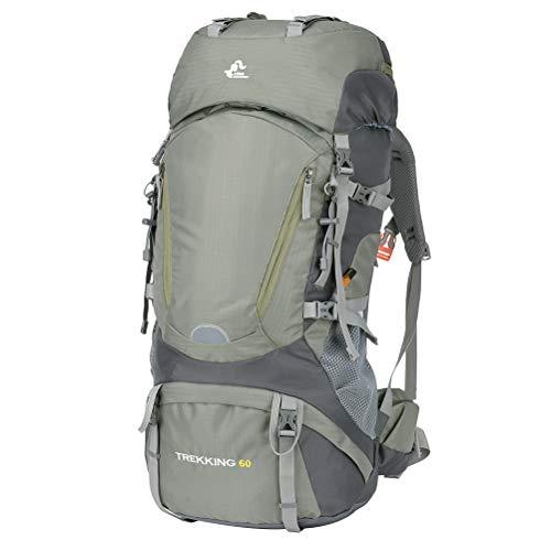 Fenical Wanderrucksack Leichter wasserdichter Reiserucksack Outdoor Sport Daypack zum Klettern Bergsteigen Camping 60L