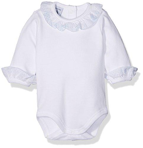 babidu BODY CUELLO BATISTA, Body para Bebé-Niños, Celeste, 18 meses