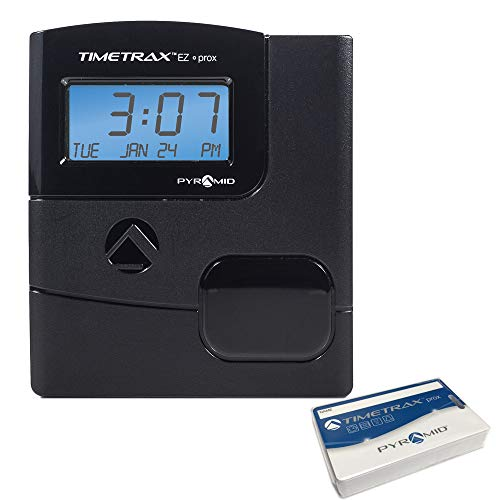 Pyramid Time Systems, PPDLAUBKN, TimeTrax Automated Proximity Time and Attendance Employee Time Clock System with Software Download, Made in USA, RFID, Black, No Touch Employee Punch in