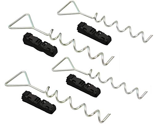 Delex Heavy Duty Galvanized Trampoline Anchor Peg Kit/Tie Down Kit, Fits all Trampolines. Ground Camp Swings, Garden Sheds, Play Sets and much more Tent Fish