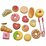 Hellery Wooden Educational Toys Play Food Play House for Toddlers Kids Learning Christmas Cake Set 1000g