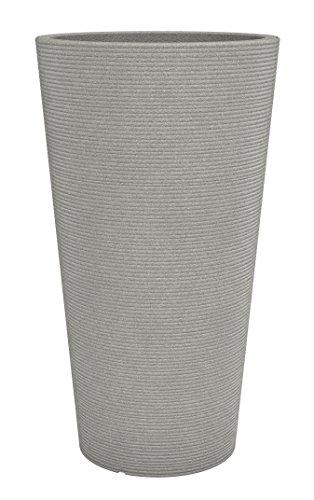 Preisvergleich Produktbild Scheurich Coneo High,  Hochgefäß aus Kunststoff,  Taupe-Granit,  28, 5 cm Durchmesser,  55 cm hoch,  9 l Vol.