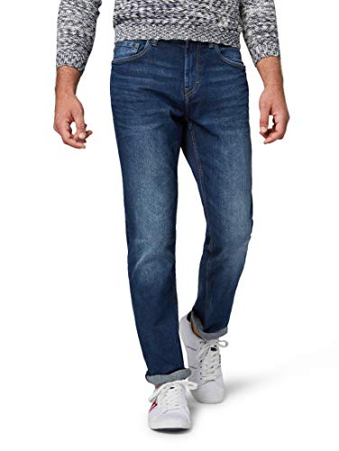 TOM TAILOR Herren Jeanshosen Josh Regular Slim Jeans mid Stone wash Denim,33/32