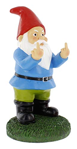 Gnometastic Double Bird Garden Gnome Statue, Large 12.5' Tall -Indoor/Outdoor Funny Lawn Gnome Decoration