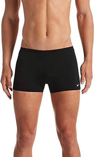 Nike Square Leg Badehose, Herren, Schwarz, L