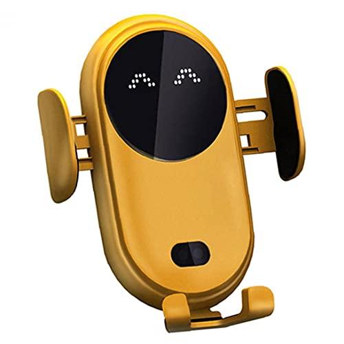 YepYes Chargeur Sans Fil Voiture Chargeur Rapide Smart Sensor infrarouge Téléphone Charge Rapide Stand Support Avec Anti-Slip automatique télescopique Clip