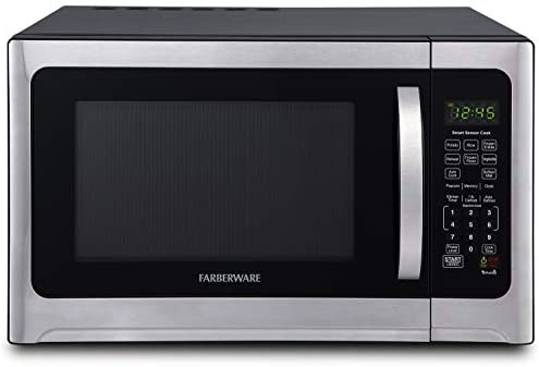 Farberware Professional FMO12AHTBKE 1 2 Cu Ft 1100 Watt Microwave Oven With Smart Sensor Cooking product image