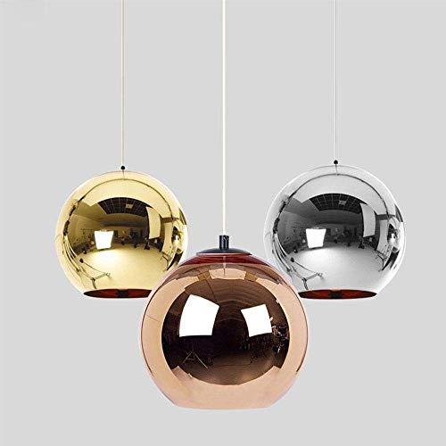 LYTZX Moderno Tom Dixon Galvani Golden Ball Lampade a Sospensione Lampada a Sospensione a LED in Vetro Lampada a Sospensione da Cucina Soggiorno Cafe Luminari (Color : Copper 1 Head, Size : 30CM)