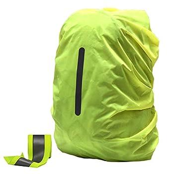 OOKOO Housse de sac à dos imperméable et réfléchissante, Vert 1 (Vert) - OOKOO-BAGCASE1-GREEN-S