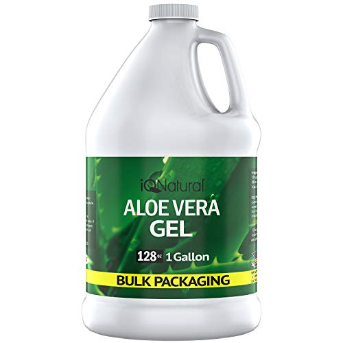 Aloe Vera Gel - Organic Aloe Vera Gel Cold Pressed - Organic Aloe for Healthy Skin, Hair & After Sun Relief - Made from Aloe Vera Juice Straight from the Plant (GALLON)