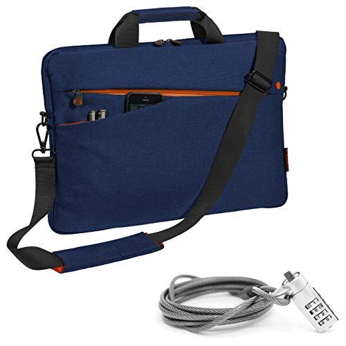 Pedea Notebooktasche Fashion 13,3/15,6/17,3 Zoll (17,3 Zoll mit Schloss, blau)