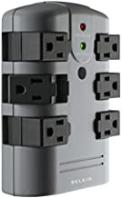 Belkin Power Strip Surge Protector - 6 Rotating AC Multiple Outlets, Flat Pivot Plug - Heavy Duty Wall Outlet Extender for Home, Office, Travel, Computer Desktop & Phone Charging Brick (1,080 Joules)