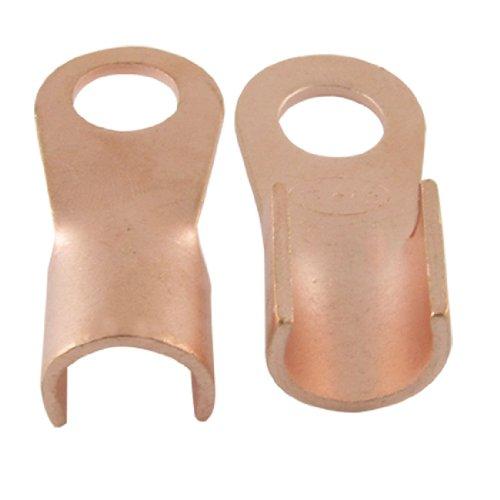 sourcingmap® 10 Stk 200A Steckverbinder Kabelschuhe läuten Zunge Kupfer auf der Durchreise de