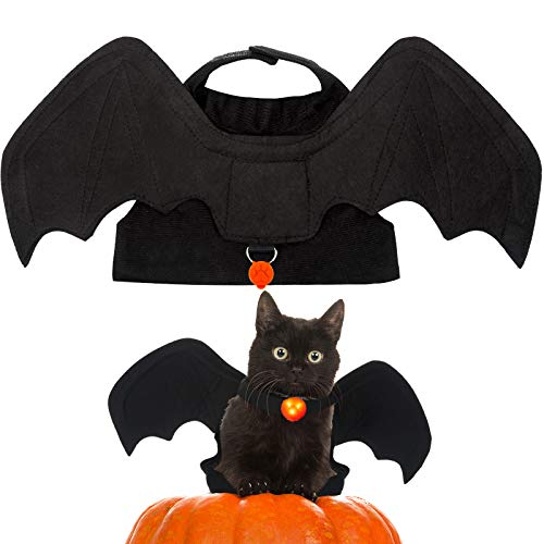 Frienda Pet Cat Bat Wing Halloween Cosplay Bat Wing Costume Party Decoration Dress up Accessories...