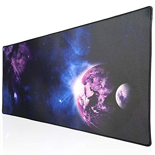 Cmhoo XXL Professional Large Mouse Pad & Computer Game Mouse Mat (35.4x15.7x0.1IN, Sky Planet)