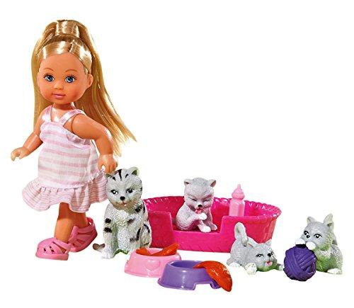 Simba 105734191 - Evi Love Puppe mit ihren Tierfreunden, 2-sort.