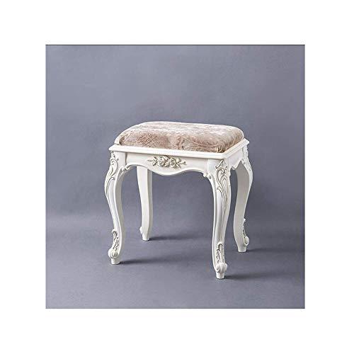 Win&Factory kruk voor wastafels, comfortabele bekleding, gestoffeerde zitbank met paal van kunststof, capaciteit 286 kg, eenvoudige montage, lichte meubels (kleur: blauw/goud) Khaki/Gold