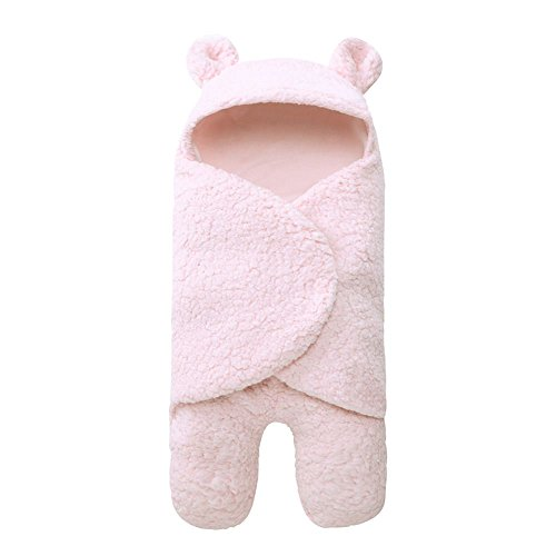 Xigeapg Saeuglingsdecke warme Winter Neugeborenen Paket Schlafsack Krippe Quilt Baby Decke Rosa