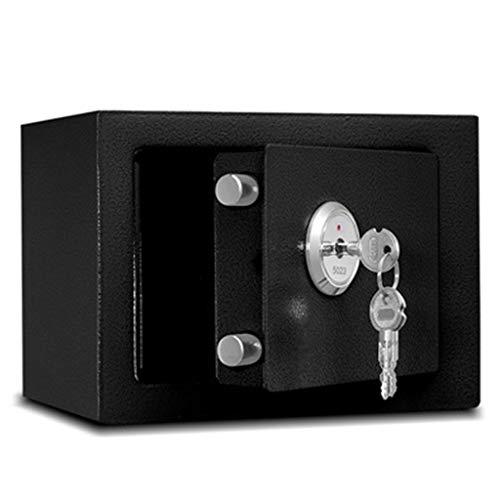 Casseforti Blocco chiave di sicurezza Installazione fissa Sicuro Montaggio a parete indipendente 23 * 17 * 17cm Safe (Color : Black)