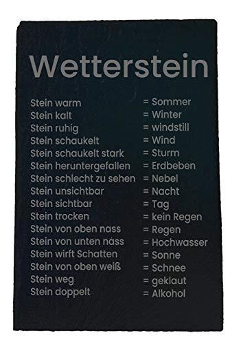 Gravierter Wetterstein ca. 20x30 cm aus Naturschiefer für die Terasse, den Garten oder Balkon | Witterungsbeständig