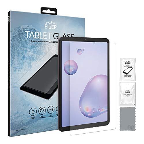 EIGER 2.5D Protector de pantalla de cristal templado para Samsung Galaxy Tab A 8.4 (2020), transparente con kit de limpieza