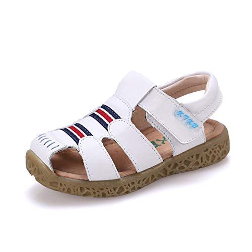 Kinder Leder Sandalen Sommer bequem Outdoor Kinder Flache Sandalen weiches Leder Muskel unten Sandalen Strandschuhe