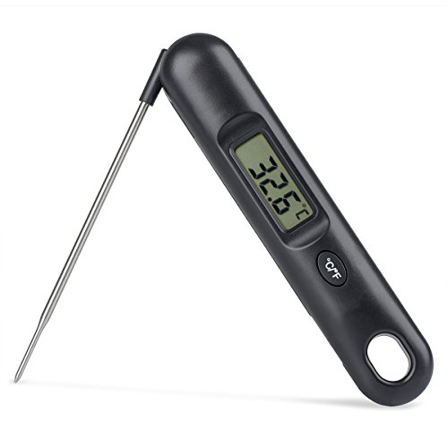 Ziroom Termometro da Cucina Termometri da Carne Termometro per Alimenti Digitale Multifunzione con Lettura istantanea con sonda per Cucina BBQ, pollame, Grill, Pieghevole