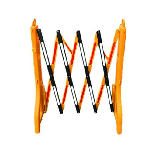 Barrière télescopique en plastique, rambarde pliable de garde-corps d'ascenseur d'hôpital de barrière de construction de route d'école (Couleur : Le jaune)
