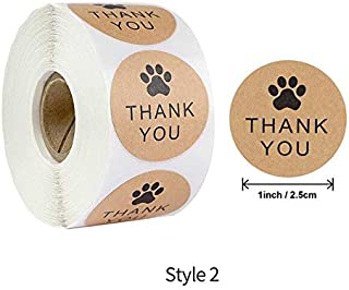 Assorted Stickers - 500pcs Round Thank You for Your Order Kraft Paper Sticker 1 Inch DIY Envelopes Gift Seal Label Scrapbo...