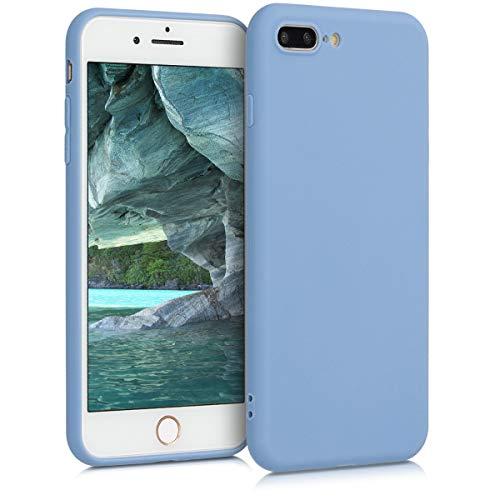 kwmobile Funda para Apple iPhone 7 Plus / 8 Plus - Carcasa para móvil en TPU Silicona - Protector Trasero en Azul grisáceo