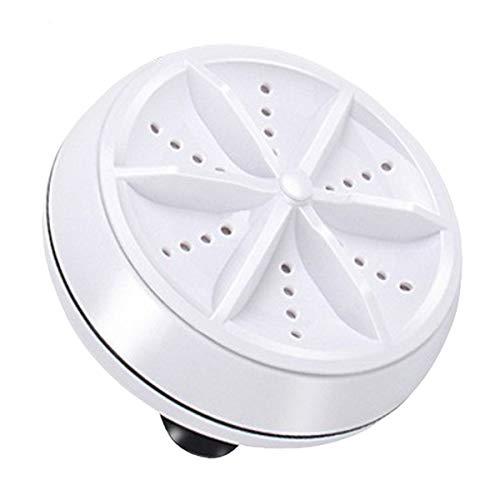 Greatangle-UK Mini Lavadora ultrasónica portátil Turbo Lavadora giratoria Personal Conveniente Viaje hogar Viajes de Negocios USB Blanco B