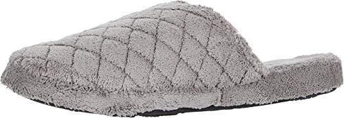 Acorn Women's Spa Quilted Clog Slipper, Grey, 9.5-10.5
