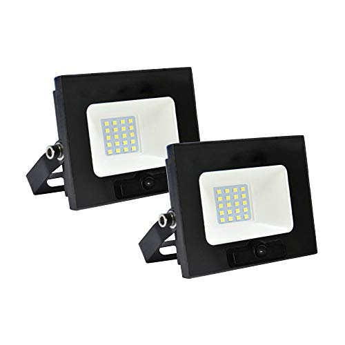 Set met 2 led-koplampen FloODLIGHT LINEA PEGASO buitenlamp IP65 20W 1600 lumen