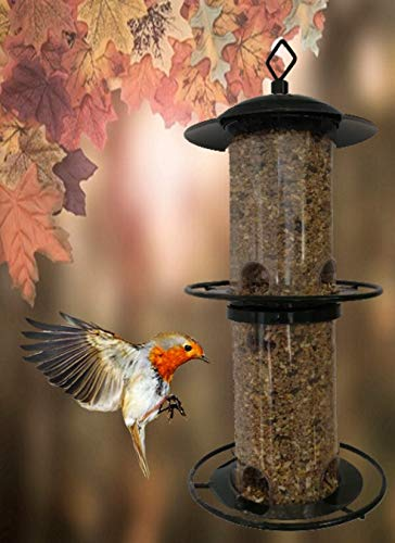 Heritage Deluxe Break Wild Bird Hanging Feeder Garden Seed Feeders Rainshelter Weatherproof …