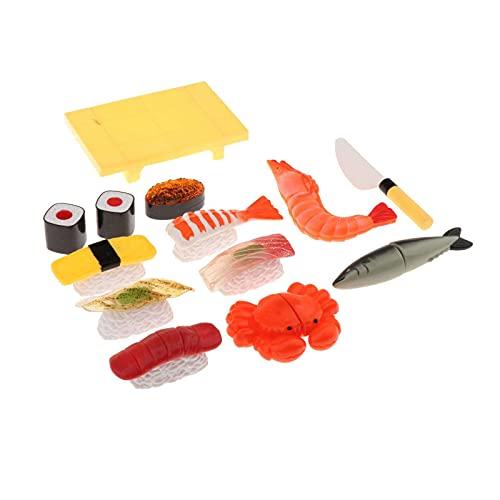 Amagogo Simulacin de Comida para nios, Comida Japonesa, Juguetes de simulacin para Jugar Sushi, atn, Sashimi, simulacin de Comida, Juguete, Juego de casa