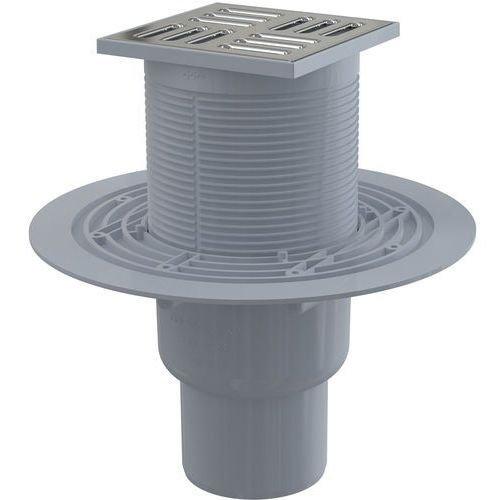 Bodenablauf 105x105/50 edelstahl Duschablauf Badablauf extra flach barrierefreies Duschen senkrecht