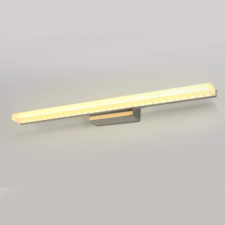 Sheen Bad Spiegel Wandleuchte, LED 8w Wasserdicht Wandlampe Aluminium Wandbeleuchtung Toilette -60cm-8W Warmes Licht