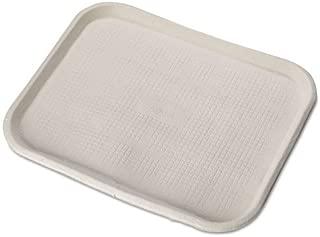 Chinet Savaday Molded Fiber Food Trays, 14 x 18, White, Rectangular, 100/Carton