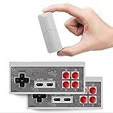 HJKPM Consolas De Juegos Plug and Play, Mini Consola De Videojuegos Inalámbrica USB Clásica De 8 bits 600 Juegos Clásicos No Repetidos Incorporados Compatible con Windows/Mac Os