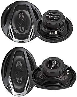 "Boss NX654 6.5"" 400W + NX694 6x9 800W 4-Way Car Audio Coaxial Speakers (2 Pack)"
