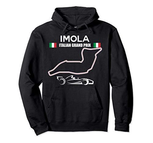 Imola circuito corsa macchina da corsa italiano Gran Premio Felpa con Cappuccio
