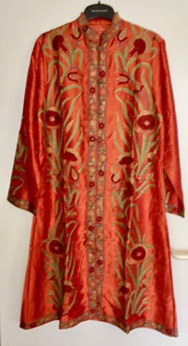 Indisches Kleid aus Naturseide, mit Stickerei, alles Handarbeit, Kameez