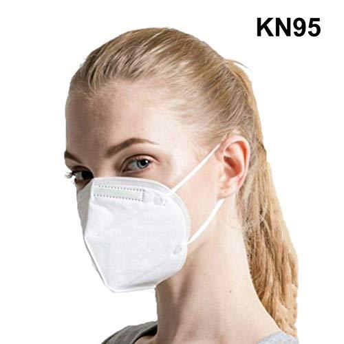 BBcoyer 15 X Polvere Maschera Maschere Monouso Viso Respiratore Anti Pollution Mask N95 Maschera, FFP2 Filtro 98% Unisex Outdoor