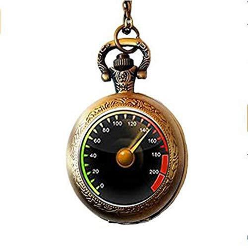 HE PING Reloj de bolsillo con velocímetro para coche, regalo divertido para hombres