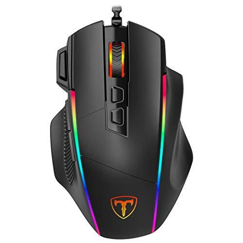 Gaming Maus, Ergonomisch RGB Maus, Holife 8000DPI, 8 programmierbar Tasten, Gamer Mouse mit komfortable Griff, PC, Laptop